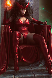 1080x1920 Scarlet Witch Power 4k Cosplay