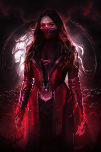 1440x2560 Scarlet Witch Wanda Maximoff 5k