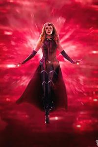 1440x2960 Scarlet Witch X Wanda Vision 5k