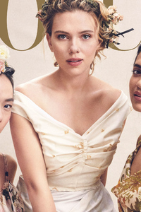 1080x2280 Scarlett Johansson And Global Actresses Vogue 2019