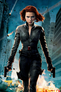 1125x2436 Scarlett Johansson Black Widow 4k New