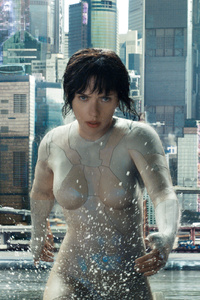 320x480 Scarlett Johansson In Ghost In The Shell Movie HD
