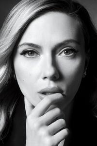 1440x2960 Scarlett Johansson Netflix Queue Monochrome 4k