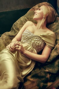 Scarlett Johansson Vanity Fair Oscar Portrait 4k