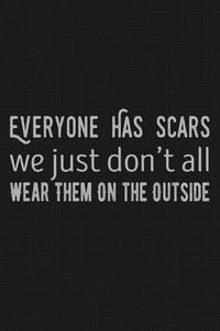 320x568 Scars Quote Typography 5k