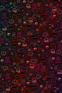 1125x2436 Scary Ghosts Abstract