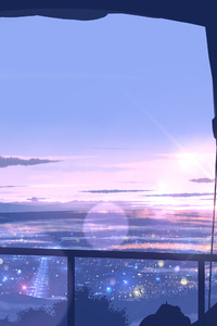 Scenery View From Window Anime 4k