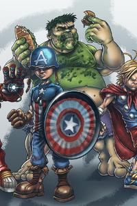 1080x2160 School Yard Avengers