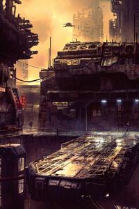Science Fiction Future City 4k