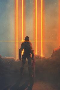 Science Fiction Warrior Artwork