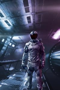 640x1136 Scifi Astronaut Army Man