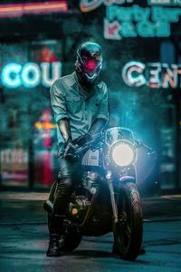1125x2436 Scifi Biker Boy 4k