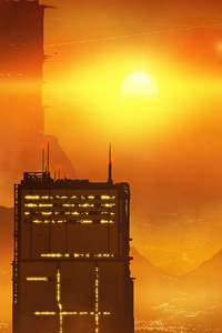 Scifi City Evening Blade Runner
