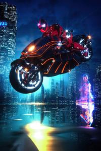 Scifi Cyberpunk Bike 4k