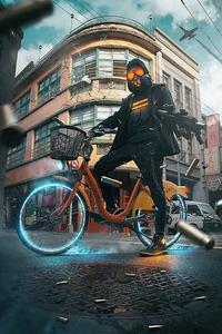 Scifi Cyclist 4k