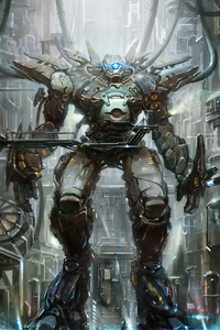 540x960 Scifi Freaky Robot 4k