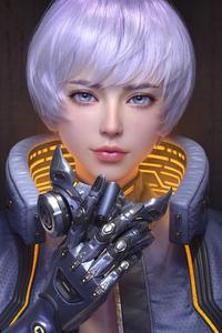 1440x2960 Scifi Girl Mask Off 5k