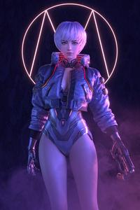 1440x2960 Scifi Girl With Gun 5k