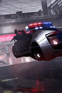 Scifi Police Floating Cars 4k