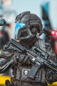 Scifi Police New London 4k
