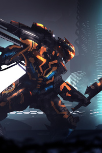 Scifi Robot Digital Art 5k