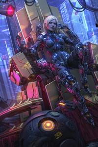 Scifi Robot Fantasy Girl Cyberpunk 8k