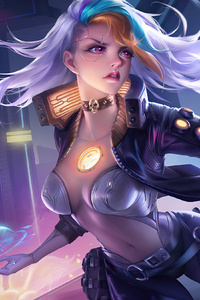 Scifi Warrior Girl With Gun 4k