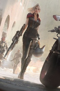 540x960 Scifi Warrior Women With Gun