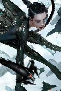 Scifi Weaponary Girl 4k