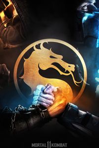 2160x3840 SCORPION AND SUB ZERO Mortal Kombat