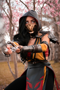 Scorpion Girl Mortal Kombat Cosplay 4k