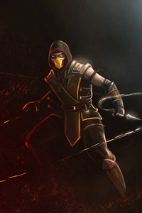 1080x1920 Scorpion Mortal Kombat 4k