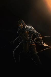 720x1280 Scorpion Mortal Kombat Dark 4k