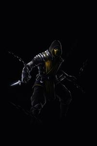 720x1280 Scorpion Mortal Kombat Dark 5k