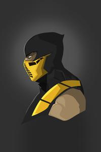 240x400 Scorpion Mortal Kombat Minimal 5k