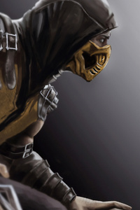 1125x2436 Scorpion Mortal Kombat X Art 4k