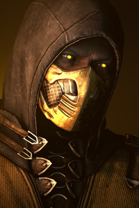 800x1280 Scorpion Mortal Kombat X Poster