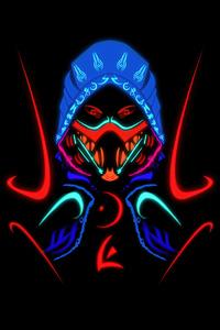 480x800 Scorpion Samurai Mortal Kombat Minimal 5k