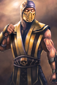 1080x1920 Scorpion Sub Zero Mortal Kombat Art