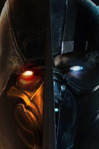2160x3840 Scorpion X Sub Zero Mortal Kombat 4k