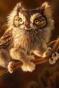 800x1280 Screech Owl 4k