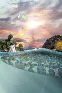 1080x1920 Sea Island Fantasy