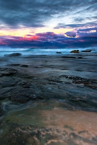 750x1334 Sea Landscape Long Exposure 4k