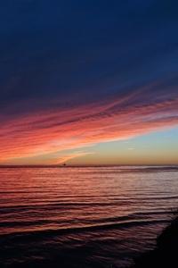 Sea Ocean Sunset Reflection Pastel Waves