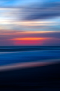 640x1136 Sea Ocean Water Sunset Blur 5k