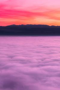 1440x2560 Sea Of Clouds Sunset Landscape 4k