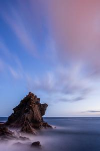 1125x2436 Sea Portugal Sky Madeira Crag