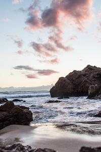 2160x3840 Sea Rocks 5k
