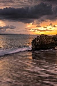 Seascape Clouds Sunset 5k