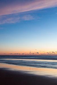 Seashore During Golden Hour 4k